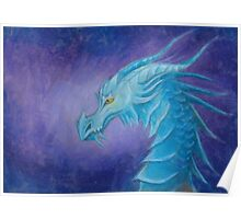 The Cool Blue Dragon Poster