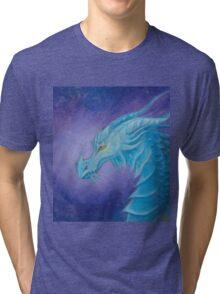 The Cool Blue Dragon Tri-blend T-Shirt
