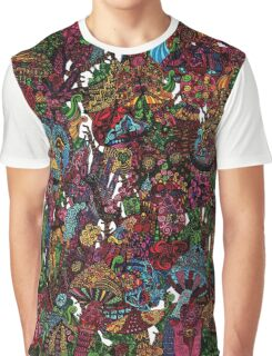 Psychedelic Cartoon Graphic T-Shirt