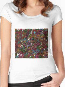 Psychedelic Cartoon Women's Fitted Scoop T-Shirt