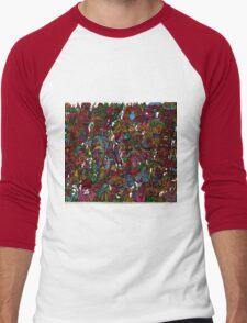 Psychedelic Cartoon Men's Baseball ¾ T-Shirt