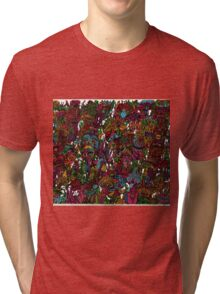Psychedelic Cartoon Tri-blend T-Shirt