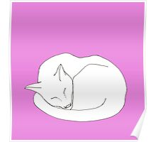 Charlie Cat Pink Poster