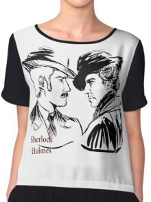 Sherlock Holmes and John Watson Chiffon Top