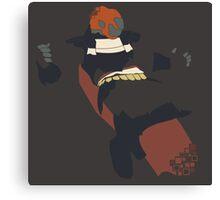 Pixel Silhouette: Ganondorf Canvas Print