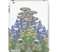 Mushroom Club garden with bluebonnets iPad Case/Skin