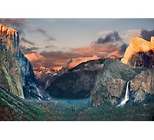 Yosemite Valley from Tunnel View Photographic Print