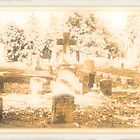 """ 'THE CEMETERY', a Series, #15, Above all, the Cross ""... prints and products by © Bob Hall"