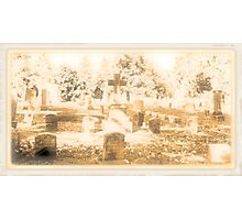 """ 'THE CEMETERY', a Series, #15, Above all, the Cross ""... prints and products Photographic Print"