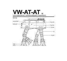 VW Westfalia AT-AT T2 Blueprint Photographic Print