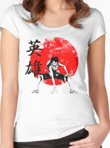 One Piece - Hero Women's Fitted Scoop T-Shirt