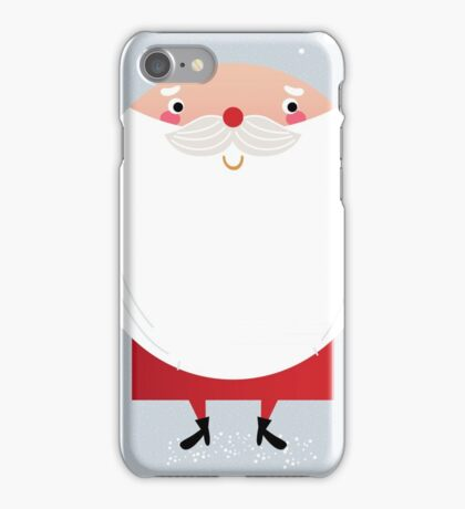 Santa with beard, cute greeting for Xmas holiday iPhone Case/Skin