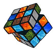 Elemental Rubik's Cube Photographic Print