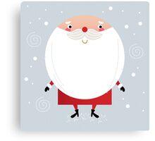 Santa with beard, cute greeting for Xmas holiday Canvas Print
