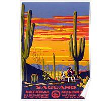 Vintage Travel Poster - Saguaro Poster