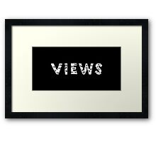 OVO - Views (Authentic Fonts White) Framed Print