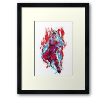 Goku God Blue Kaioken x10 Framed Print