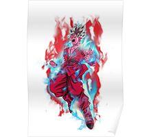 Goku God Blue Kaioken x10 Poster