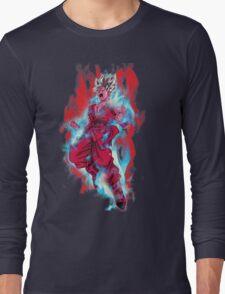 Goku God Blue Kaioken x10 Long Sleeve T-Shirt