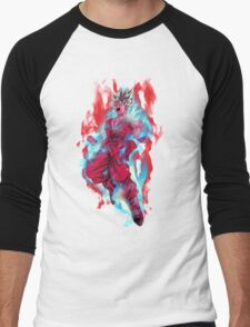 Goku God Blue Kaioken x10 Men's Baseball ¾ T-Shirt