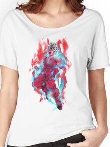 Goku God Blue Kaioken x10 Women's Relaxed Fit T-Shirt