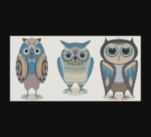 THREE FANCY OWLS One Piece - Short Sleeve