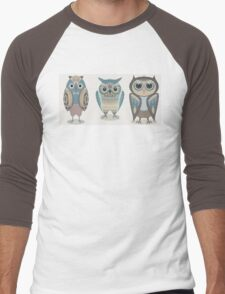 THREE FANCY OWLS Men's Baseball ¾ T-Shirt