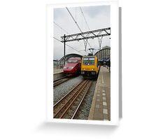 Dutch international trains Greeting Card