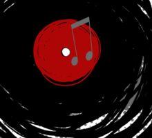 Vinyl Records Retro Grunge Sticker