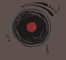 Vinyl Records Retro Grunge One Piece - Short Sleeve