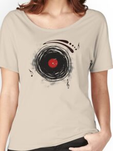 Vinyl Records Retro Grunge Women's Relaxed Fit T-Shirt