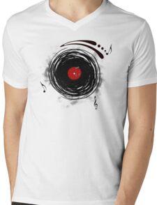 Vinyl Records Retro Grunge Mens V-Neck T-Shirt