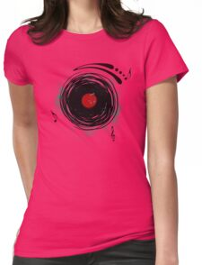 Vinyl Records Retro Grunge Womens Fitted T-Shirt