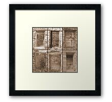 Pyrenean doors in sepia Framed Print