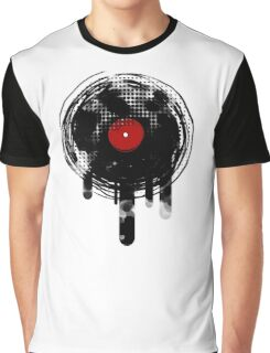 Melting Vinyl Records Vintage Graphic T-Shirt