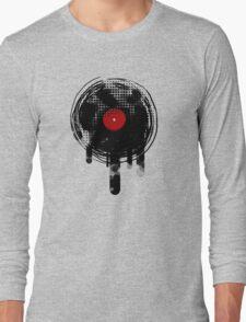 Melting Vinyl Records Vintage Long Sleeve T-Shirt