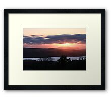 Sunset over North Donegal Framed Print