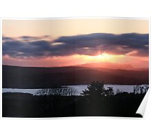 Sunset over North Donegal Poster