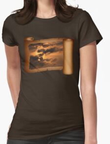 Ancient Dragon in the Sky ~ Clouds Womens Fitted T-Shirt