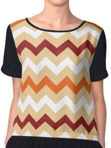 Colorful Chevron pattern for Thanksgiving day Chiffon Top