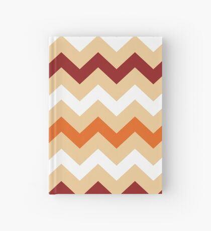 Colorful Chevron pattern for Thanksgiving day Hardcover Journal