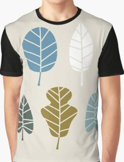 Autumn leaves silhouettes Vector Illustration Graphic T-Shirt