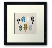 Autumn leaves silhouettes Vector Illustration Framed Print
