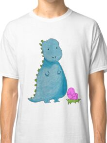 Cute Dinosaur in Blue Classic T-Shirt