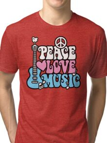 Peace, Love, Music Tri-blend T-Shirt