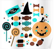 Halloween Trick or Treat Candies Poster