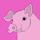 Happy pig by mindgoop