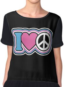 I Love Peace Chiffon Top