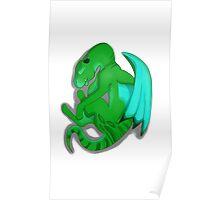 Sleeping Dragon (Green) Poster