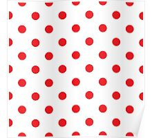 Polka dot fabric Retro vector Poster